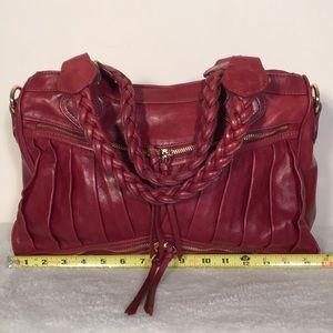 Treesje red boho leather satchel. Perfect.